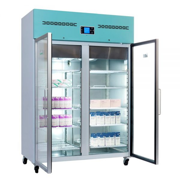 Large Vaccine Fridge 1200 Litre Freestanding with Glass Door