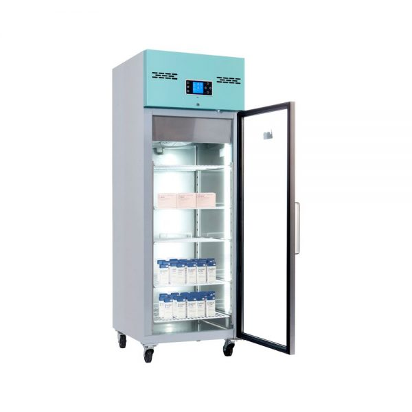 Large Vaccine Fridge 600 Litre Freestanding with Glass Door
