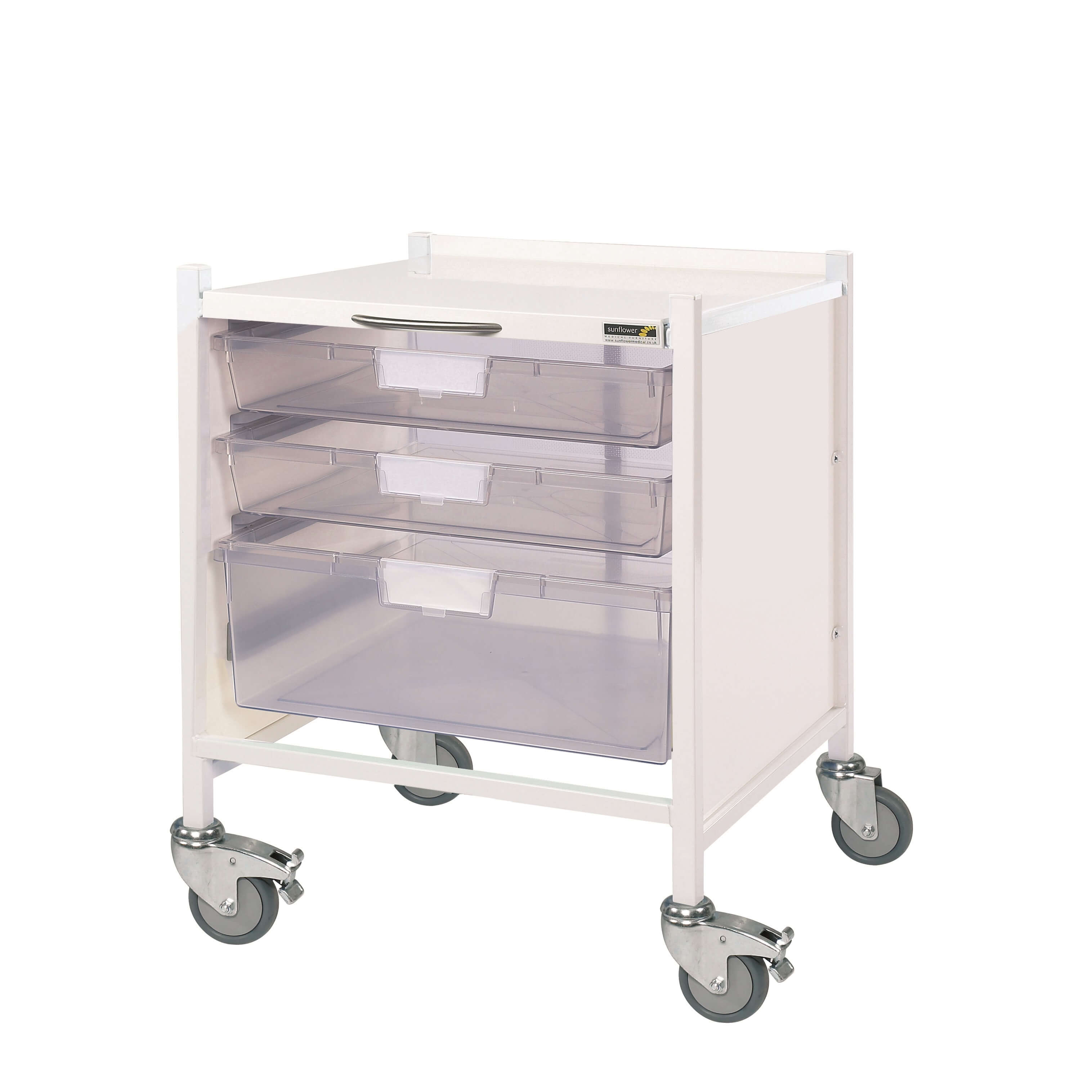 Vista 15 Trolley with Clear Trays