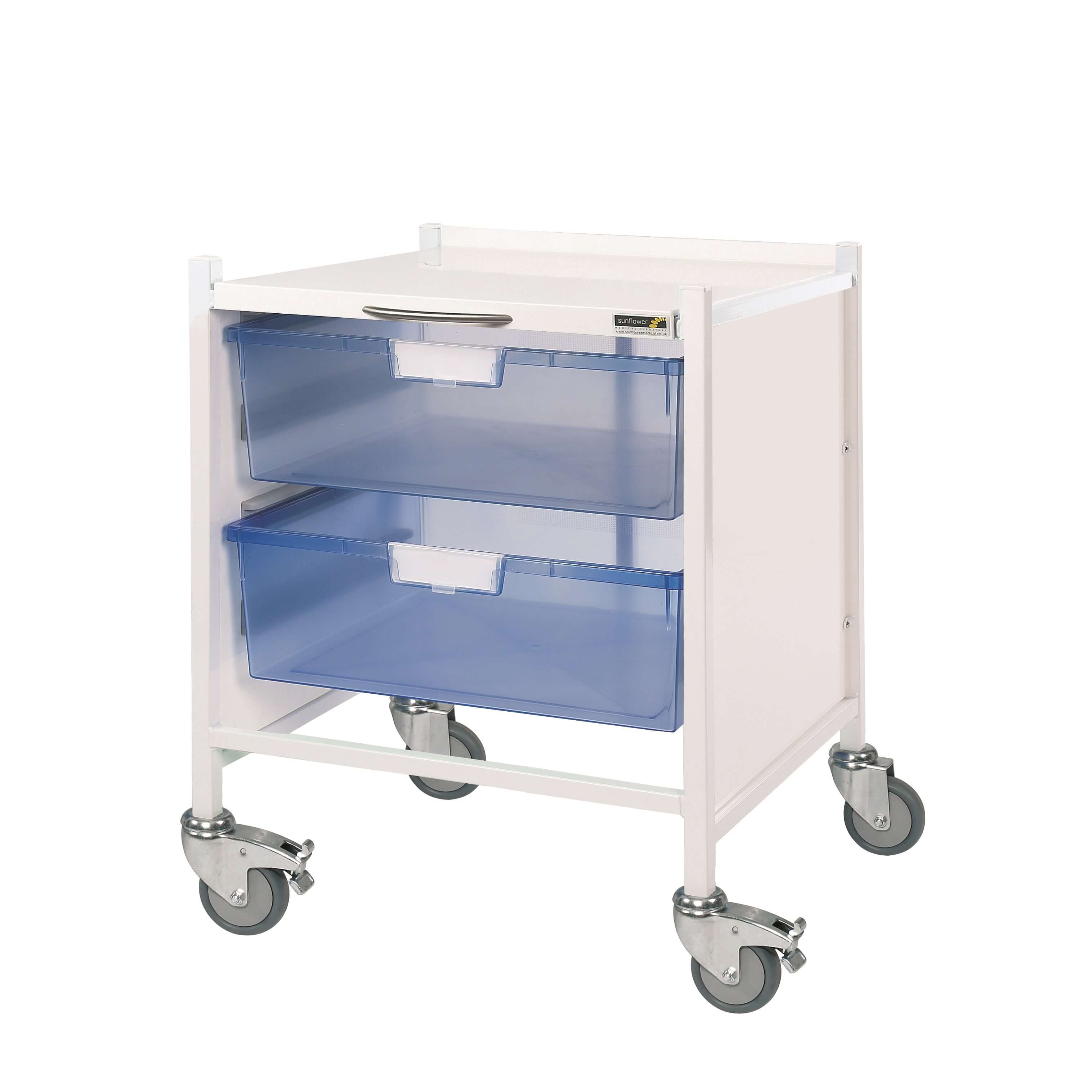 Vista 15 Trolley - Two Double Blue Trays