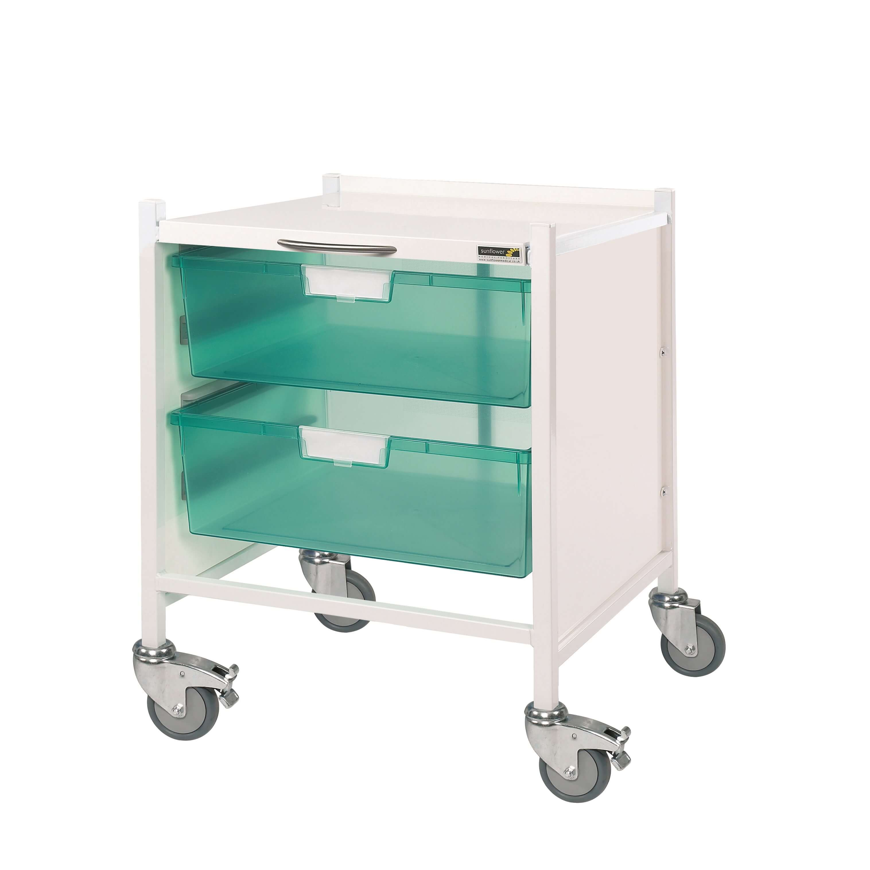 Vista 15 Trolley - Two Double Green Trays
