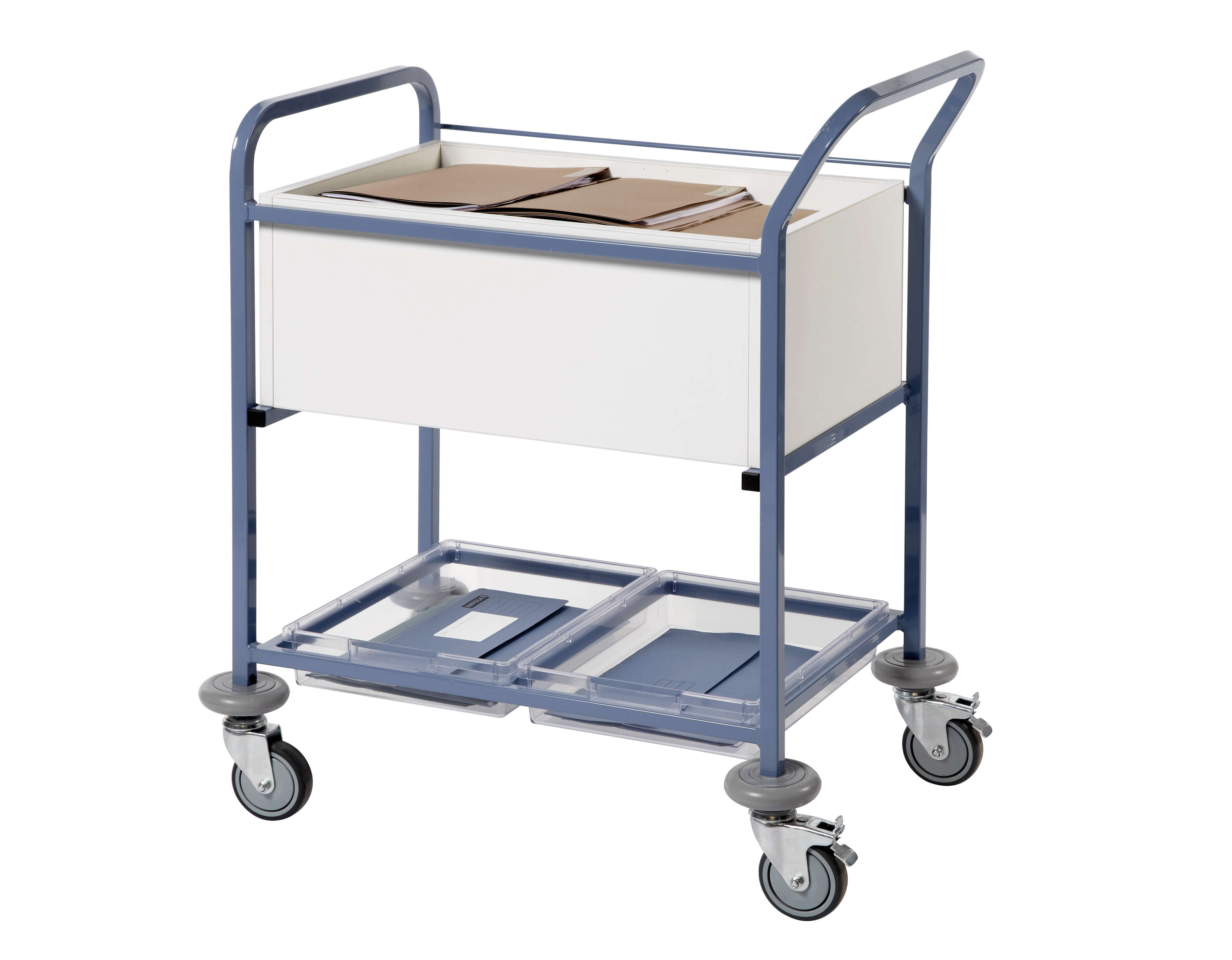 Records Transfer Trolley with Open Top