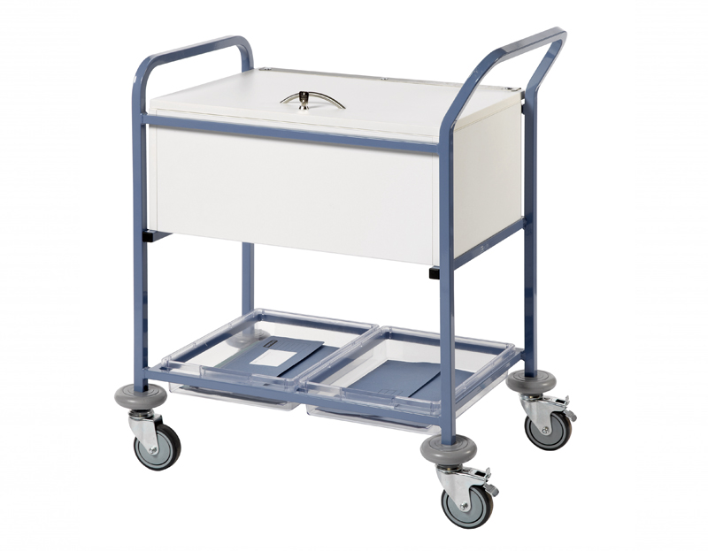 Records Transfer Trolley with Folding Locking Top