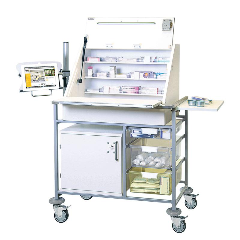 Ward Drug Medicine Dispensing Trolley