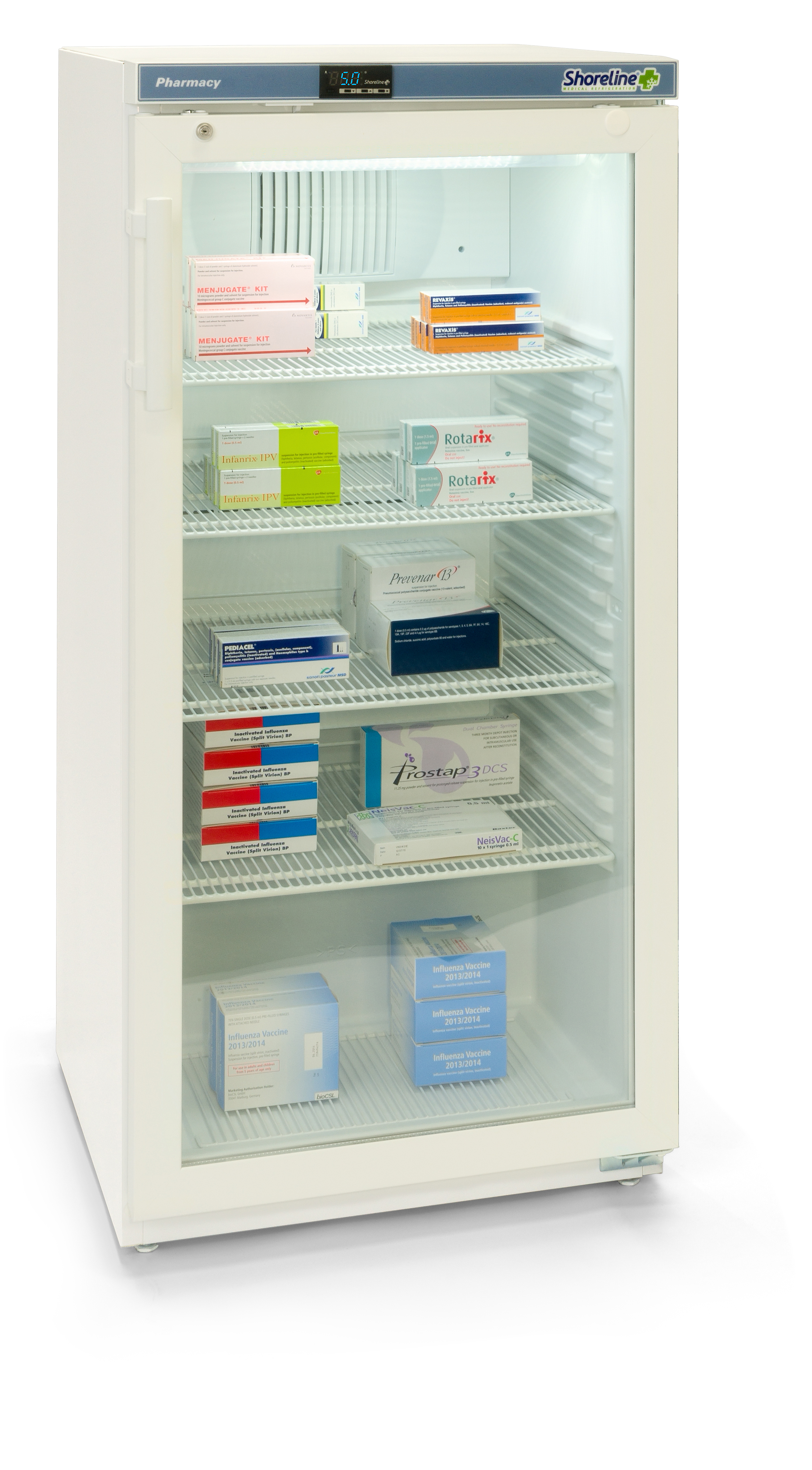 Large Pharmacy Refrigerator with Glass Door